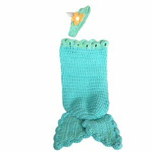 Baby girl mermaid outfit with Flower headband